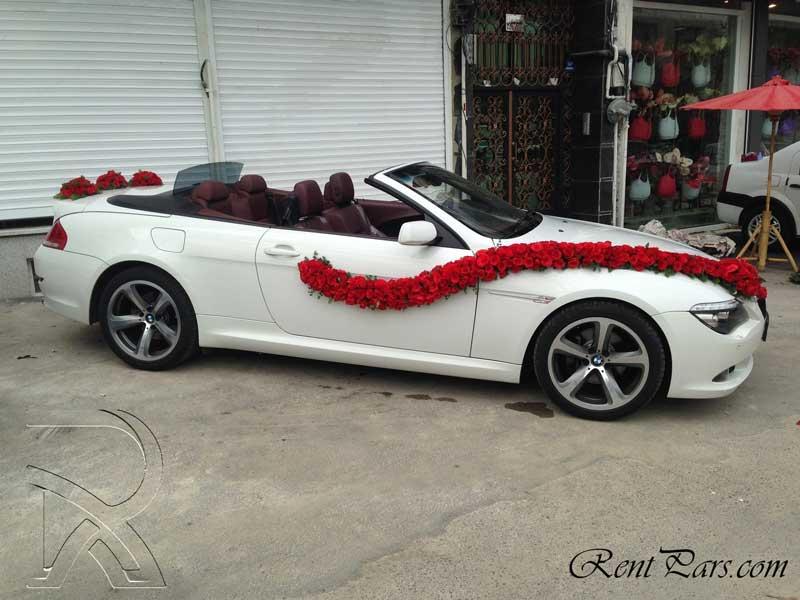 طرح گل ماشین عروس