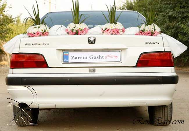 ماشین عروس پرشیا سفید