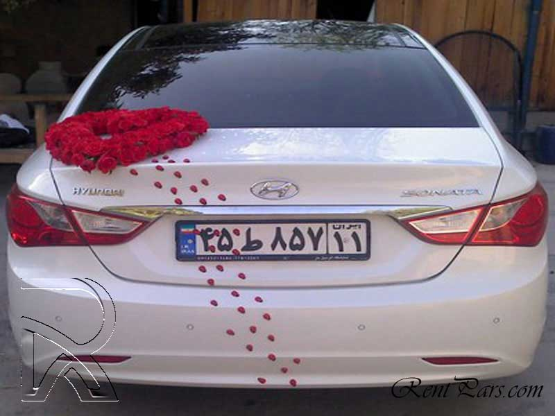 ماشین عروس سوناتا yf