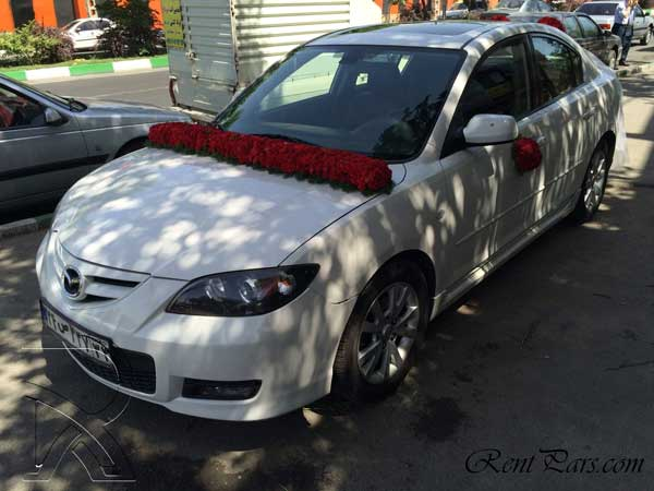 اجاره ماشين عروس با گل
