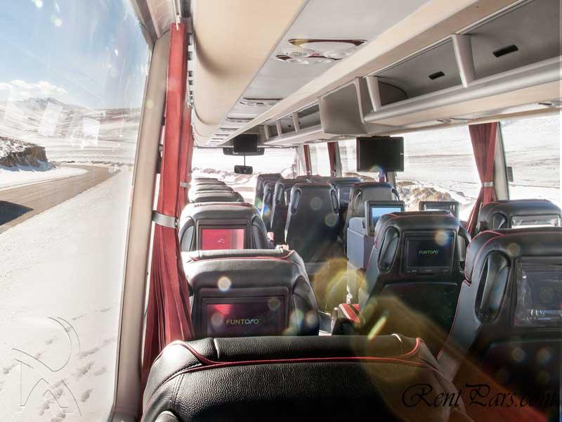 کرایه اتوبوس تهران اصفهان