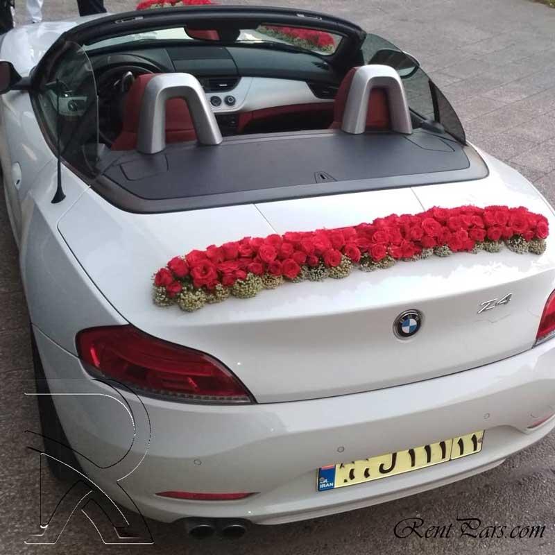 اجاره ماشين عروس با گل ۲
