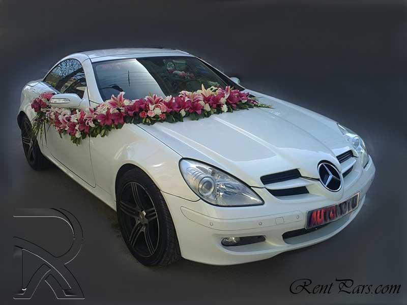 اجاره ماشين عروس با گل ۱
