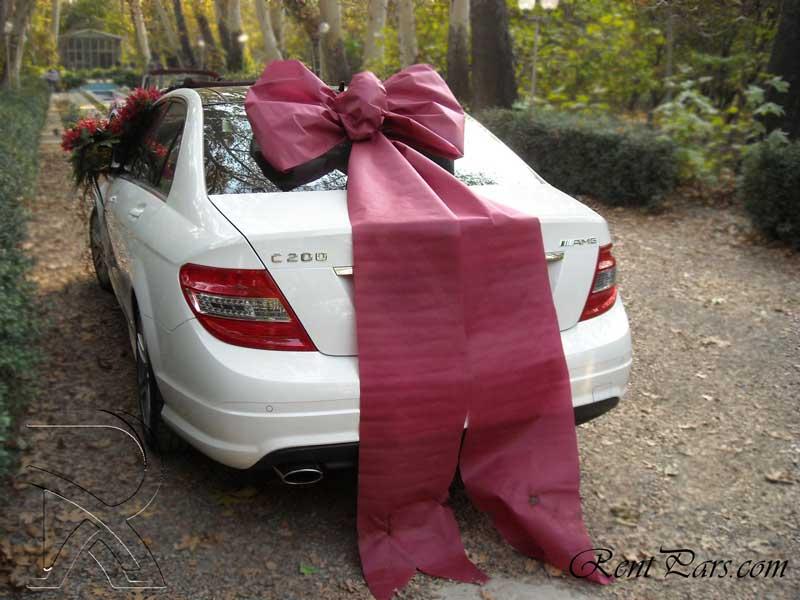 تزیین ماشین عروس با پاپیون 7