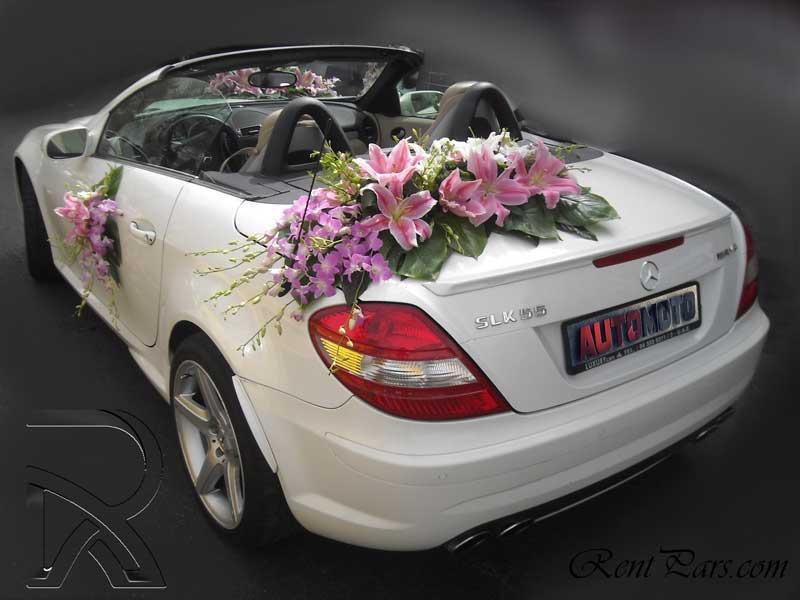 اجاره ماشين عروس با گل ۵