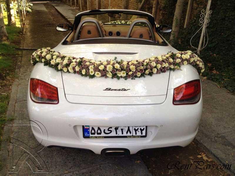 مدل گل ماشین عروس 3