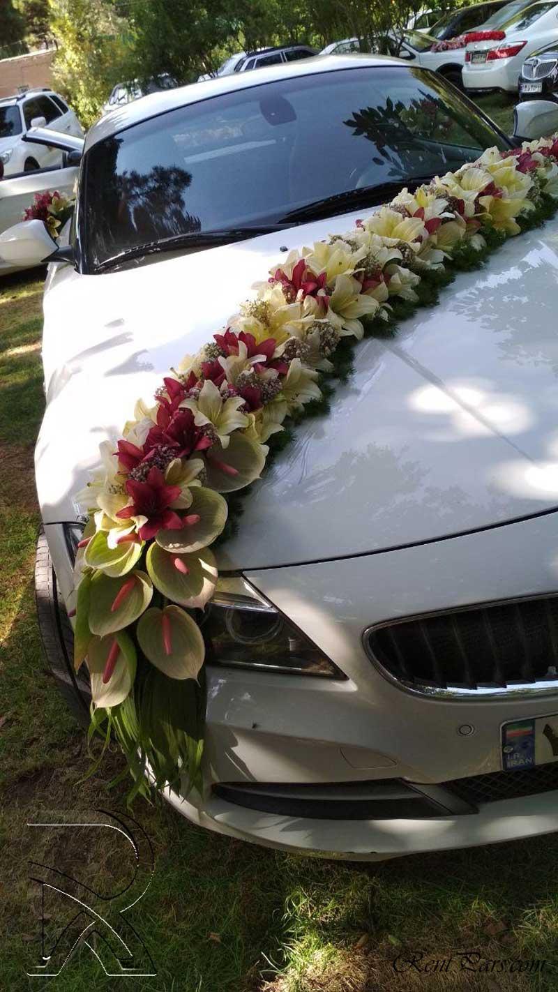 تزین ماشین عروس ایرانی ۷