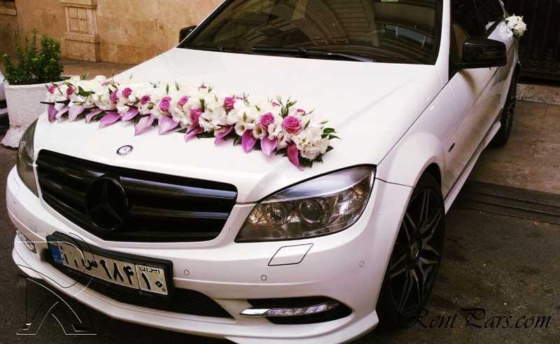 گل زدن ماشین عروس 7