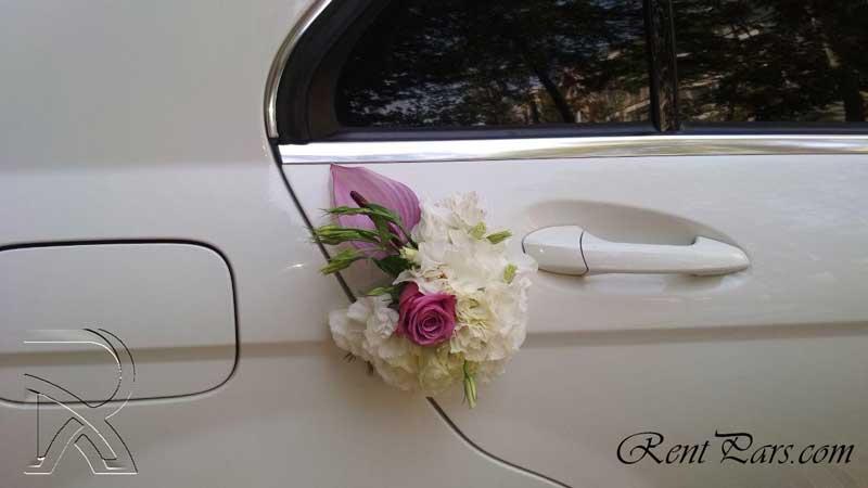 اموزش گل ارایی ماشین عروس ۹