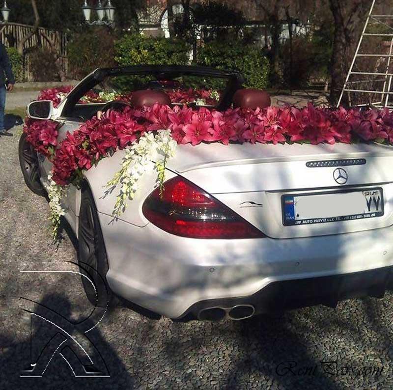 گل کاری ماشین عروس 3