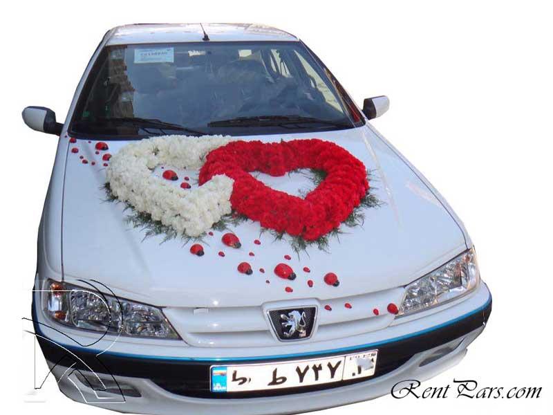 تزین ماشین عروس ایرانی